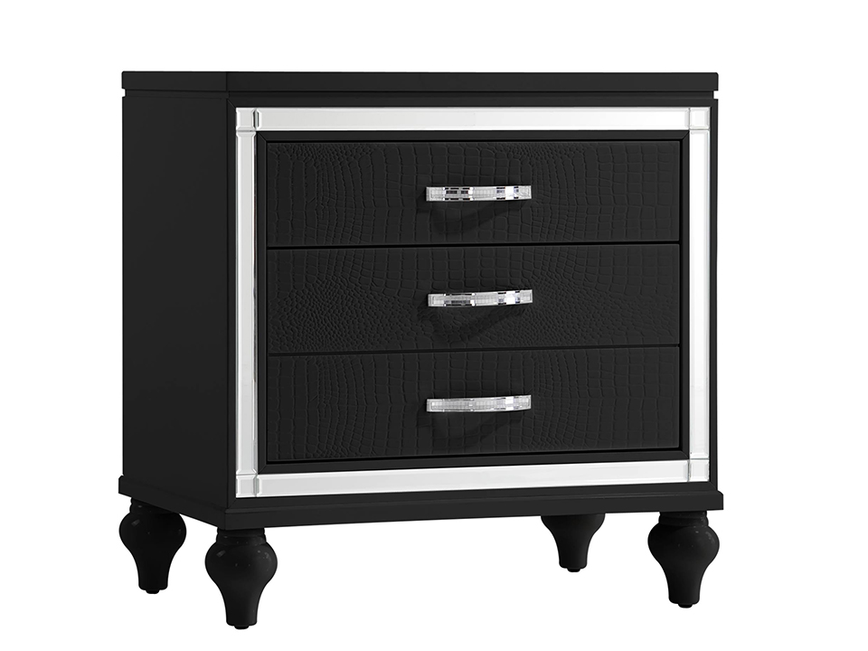 Miami Black Night Stand