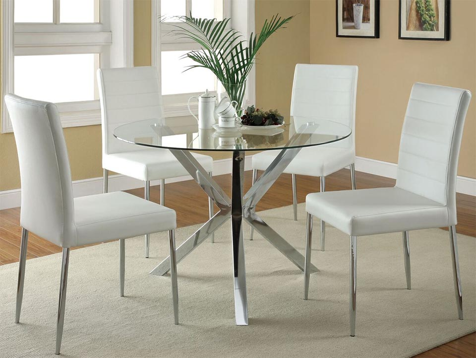 Vance White 5 Pcs Set. Dining Room Collections