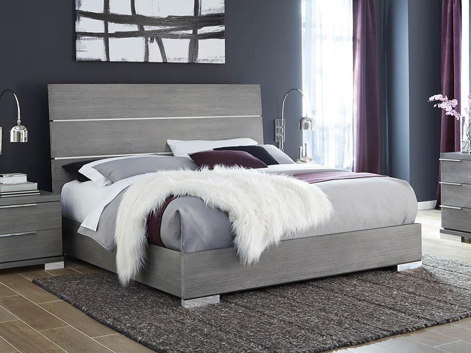 Milano Grey King Bed