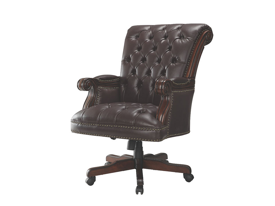 widon burgandy traditional office chair