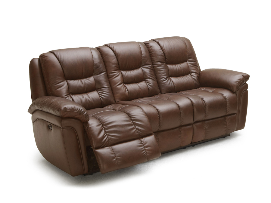 Craney Brown Leather Power Recliner Sofa ... - Clearance