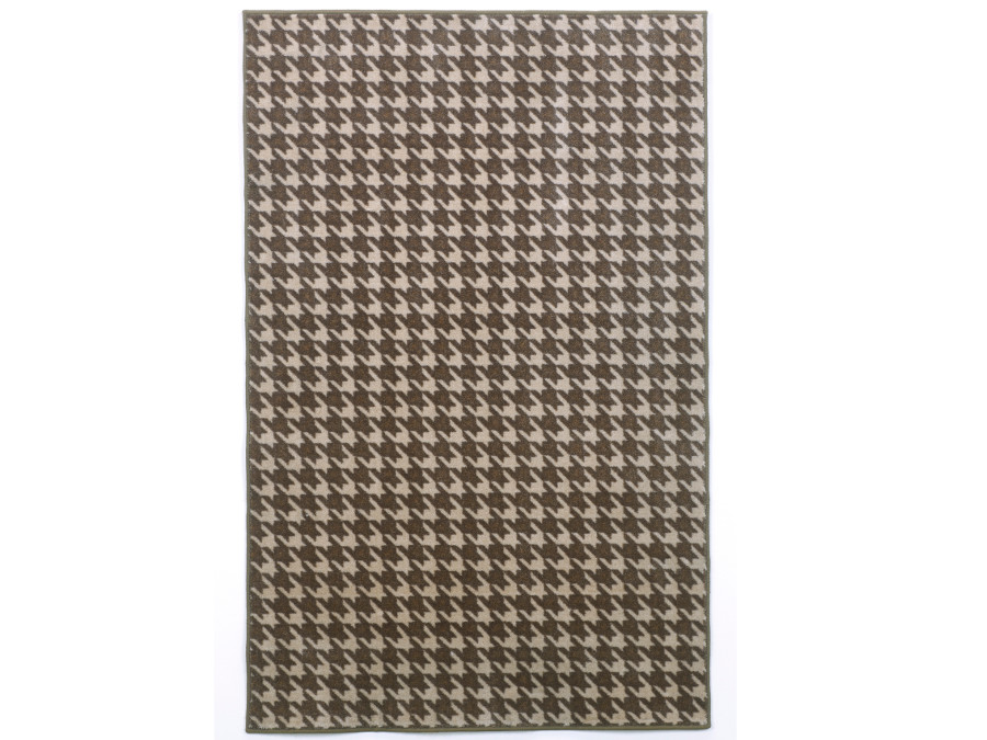 Gray Houndstooth Rug Dining Room
