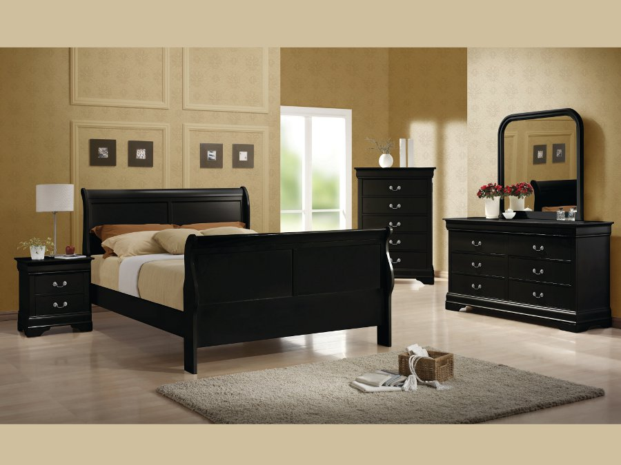 Louis Philippe Black Full 4pc Set