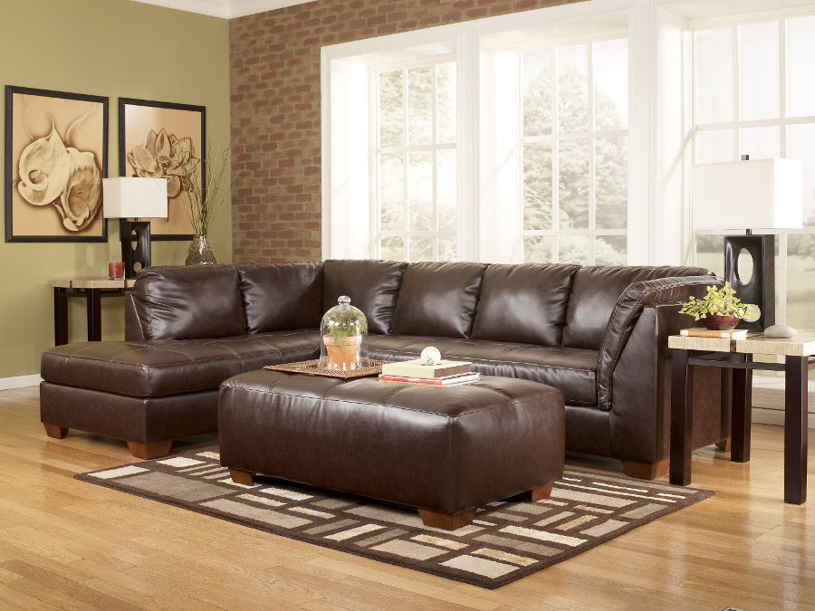 Fairplay Mahogany Sectional Left Chaise