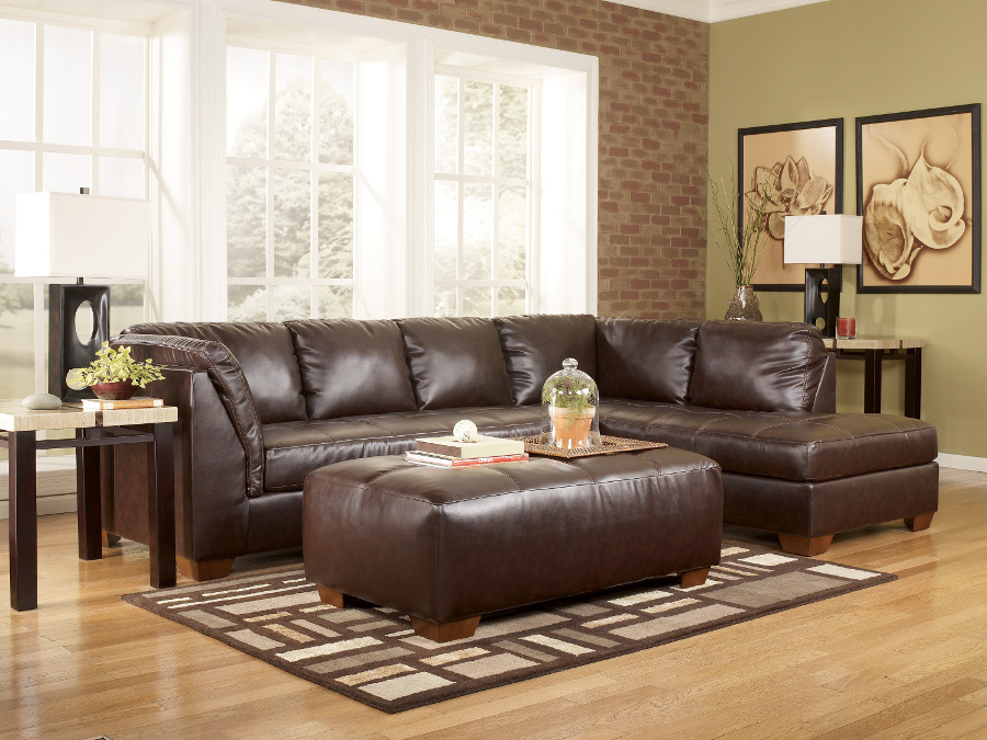 - Fairplay Mahogany Sectional Right Chaise