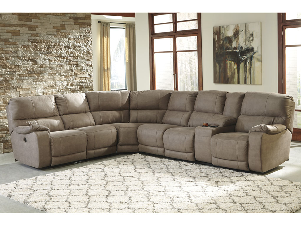 brown microfiber recliner sectionals