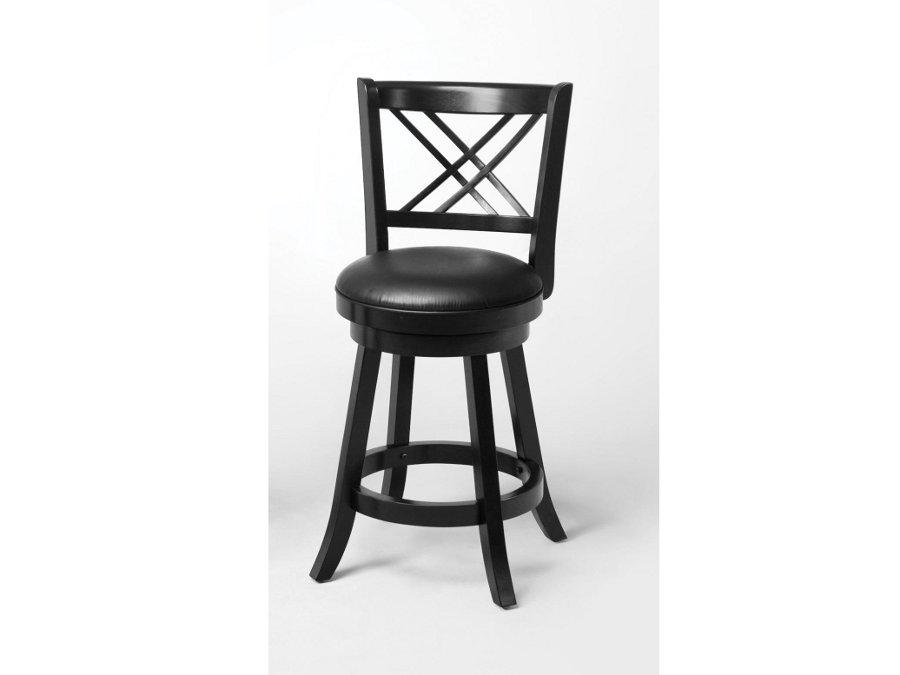 24 swivel black wood bar stool